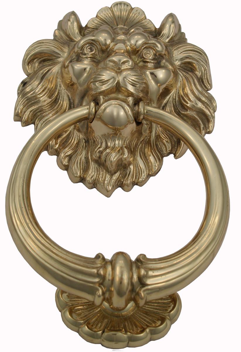 Polished Brass Lion Head Door Knocker