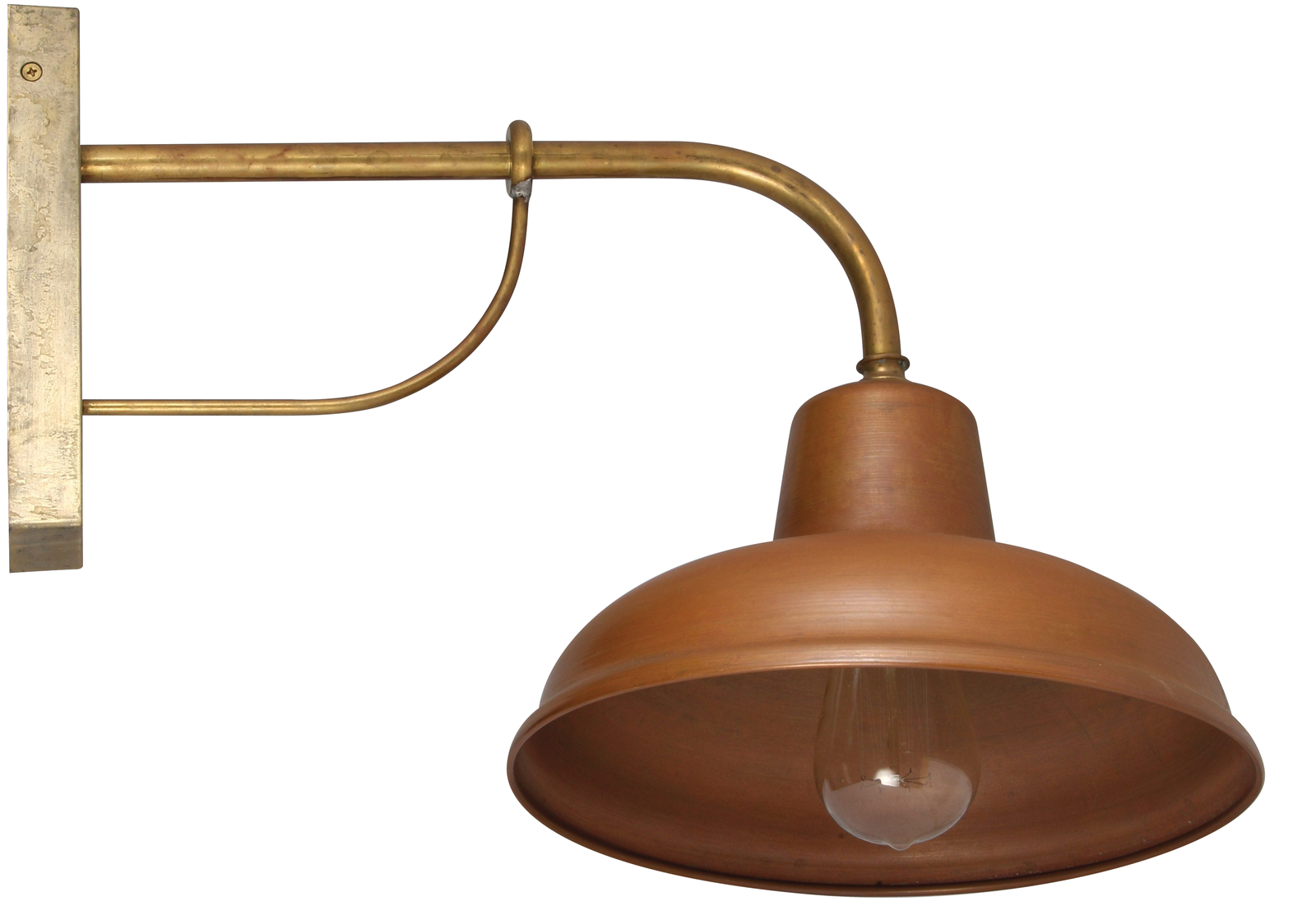 Copper and Brass Exterior Wall Light