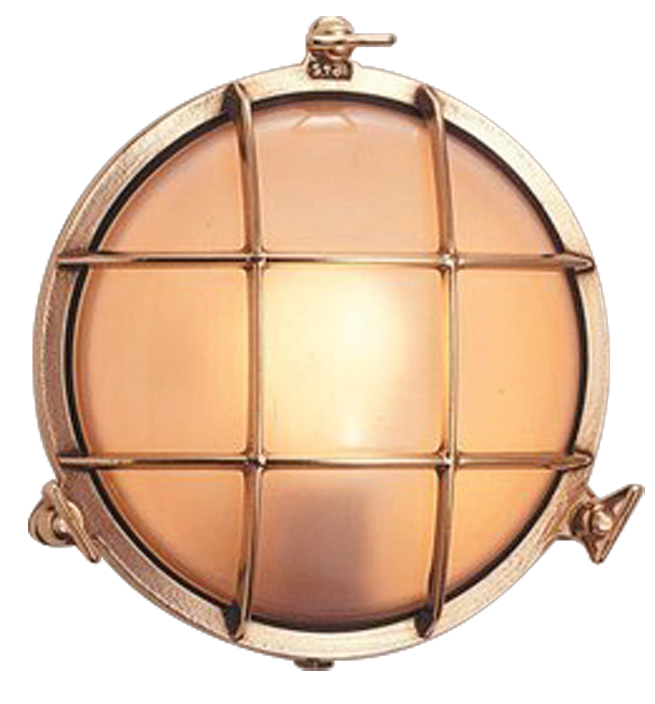 Brass Bunker Exterior Light