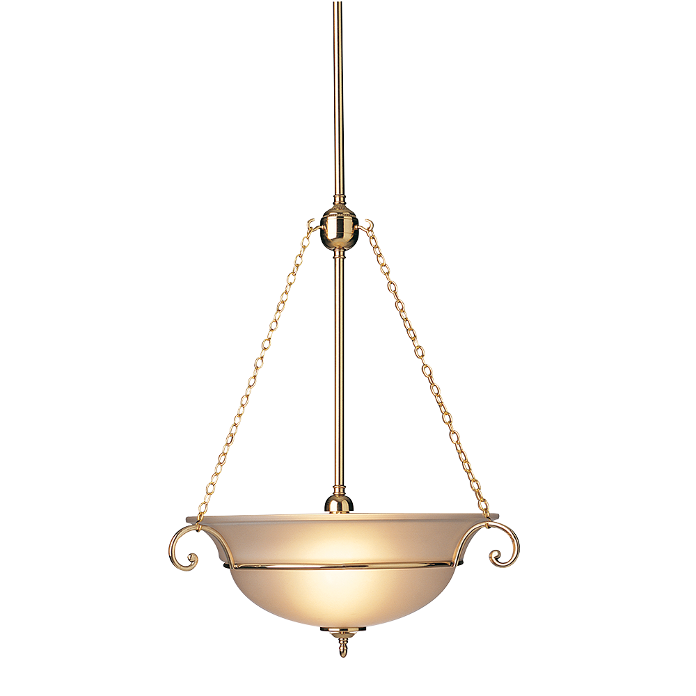 Hanging Bowl Chain Pendant Light