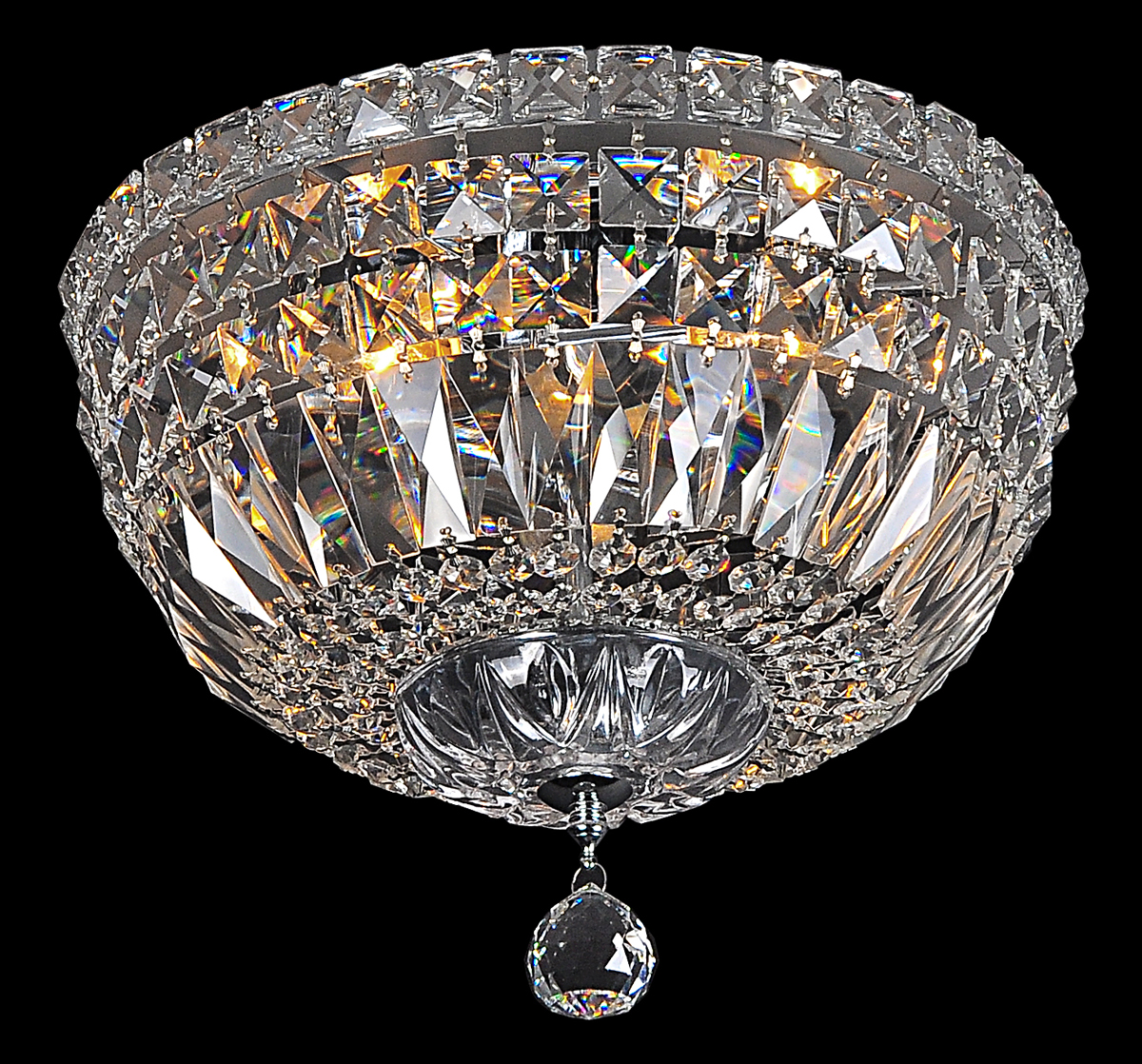 Flush Crystal Chandelier