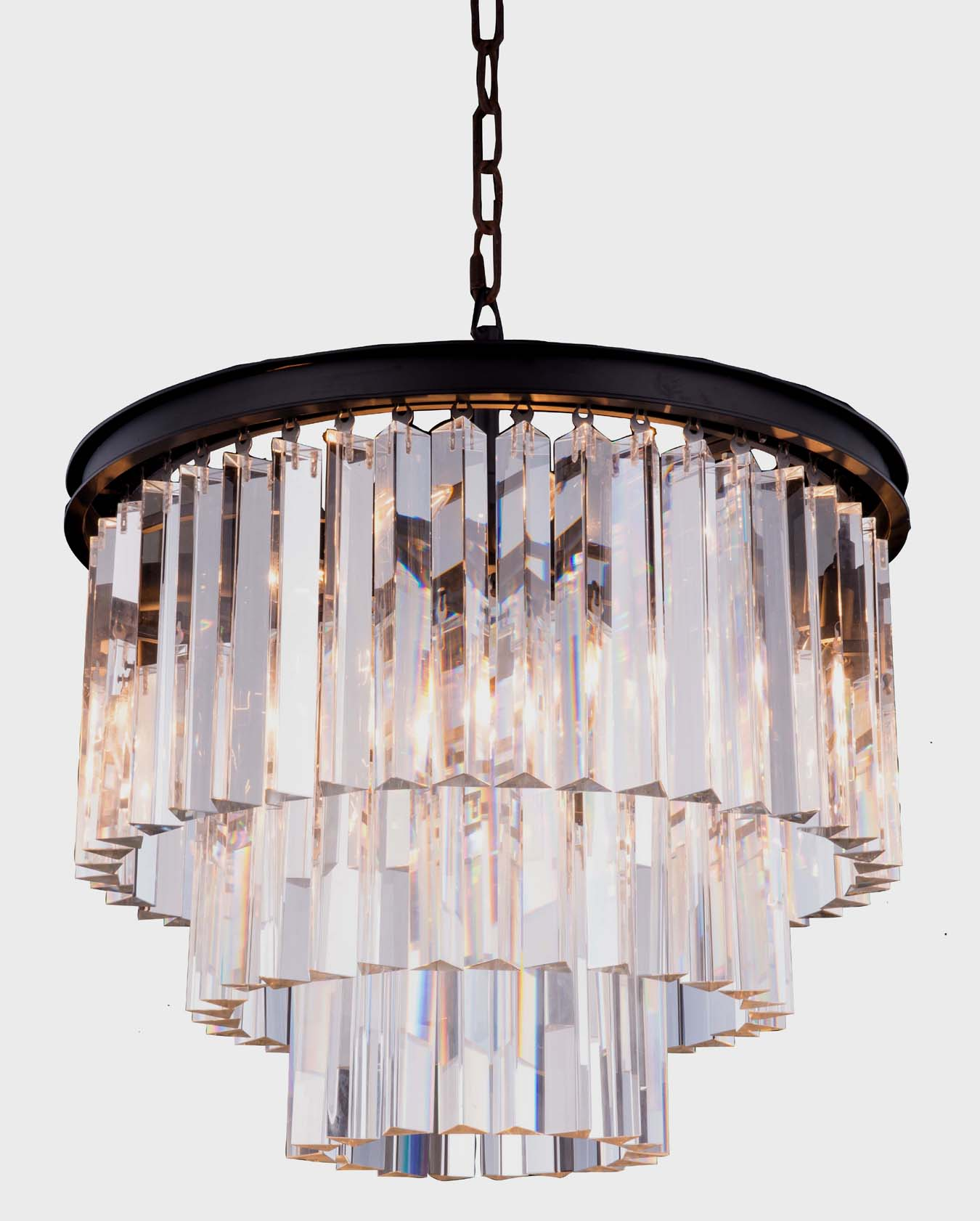Modern Rectangle Crystal Chandelier