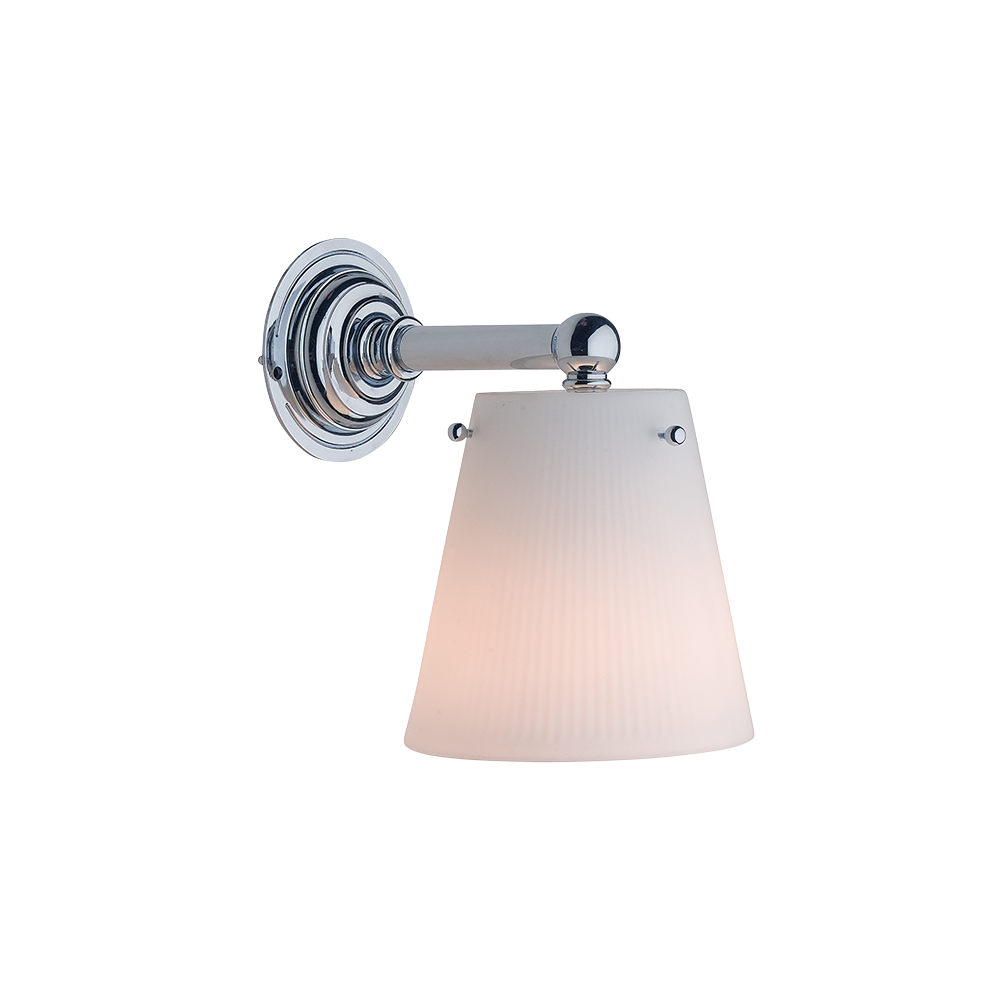Wall Light Hamptons White Glass