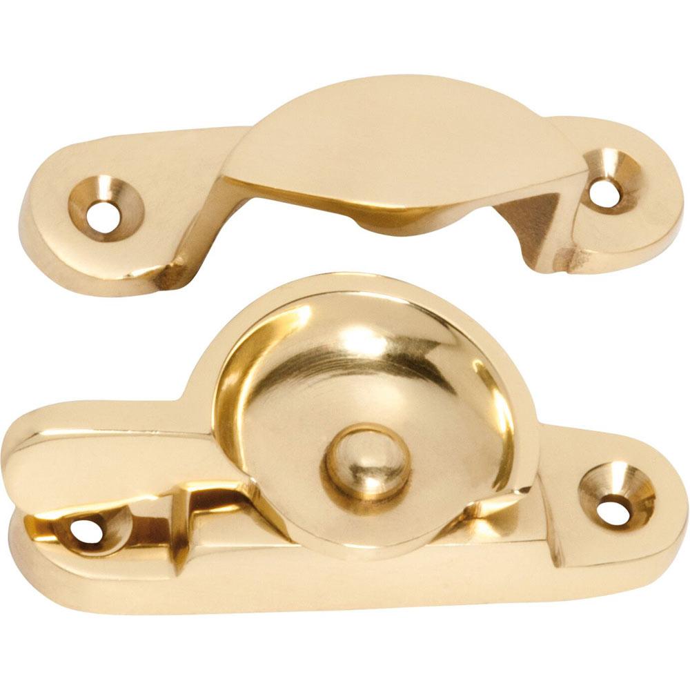 Polished Brass Sash Window Fastener