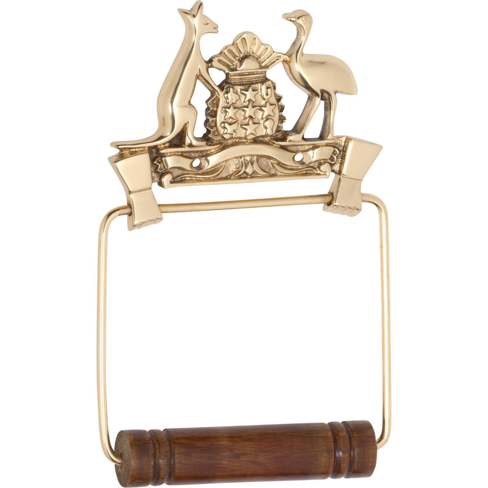 Polished Brass Toilet Roll Holder