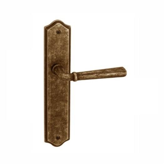 Rustic Bronze Longplate Leverset