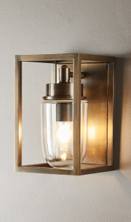 Solid Brass Exterior Wall Light